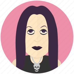 avatar, avatars, female, goth, profile, user icon
