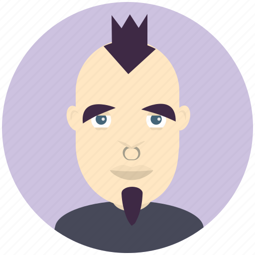 avatar, avatars, goth, man, profile, user icon