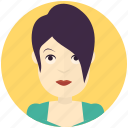avatar, avatars, modern, profile, user, woman icon