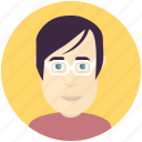 avatar, avatars, man, nerd, profile, user icon