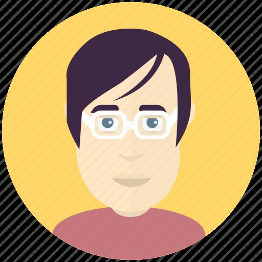 avatar, avatars, man, nerd, profile, user icon