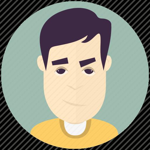 avatar, avatars, man, profile, smirk, user icon