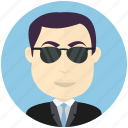 avatar, avatars, business, man, sunglasses, user icon