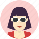 avatar, avatars, profile, sunglasses, user, woman icon