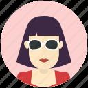 sunglasses, woman, avatar, avatars, profile, user