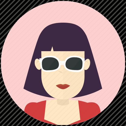 avatar, avatars, profile, sunglasses, user, woman icon