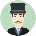avatar, avatars, hat, man, profile, top, user icon