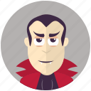 avatar, avatars, halloween, man, profile, user, vampire icon