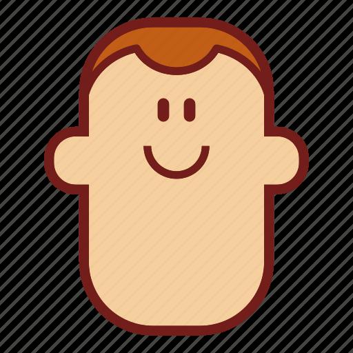 avatar, emoji, face, guy, man, profile, smile icon