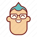 avatar, emoji, emotional expression, face, geek, man, profile icon