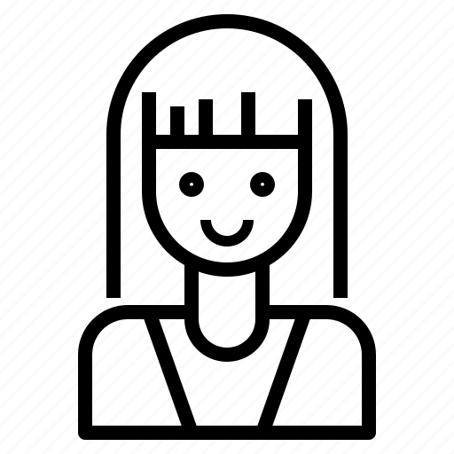 avatar, hair, long, style, woman icon