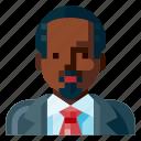 afro, avatar, business, human, man, portrait, profile