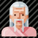 asian, avatar, human, man, old, portrait, profile
