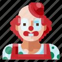 avatar, clown, human, portrait, profile, user icon