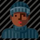 avatar, criminal, human, portrait, profile, user