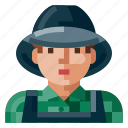 avatar, farmer, human, male, portrait, profile, user