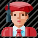avatar, graduated, human, male, portrait, profile, student
