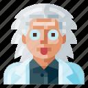 avatar, human, male, portrait, profile, scientist, user