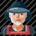 avatar, farmer, human, male, old, portrait, profile