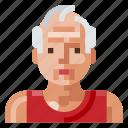 avatar, human, man, old, portrait, profile, sport icon