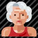 avatar, human, old, portrait, profile, sport, woman