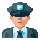 avatar, human, man, police, portrait, profile, user