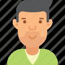 avatar, beard, man, young icon