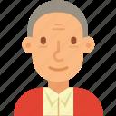 avatar, hair, man, old, senior