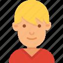 avatar, blond, boy, kid, man, young icon
