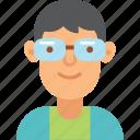 avatar, boy, glasses, man, young