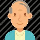 avatar, bald, man, old, senior