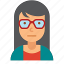 avatar, girl, glasses, woman, young icon