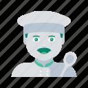 avatar, chef, face, man, profile, user icon