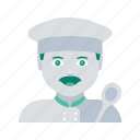avatar, chef, face, man, profile, user