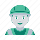 avatar, construction, face, man, profile, user, worker