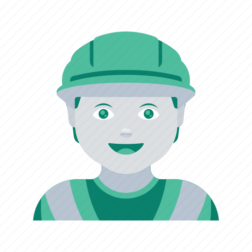 avatar, construction, face, man, profile, user, worker icon