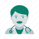 avatar, doctor, face, man, profile, user icon