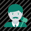 avatar, face, judge, man, profile, user