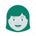 profile, face, lady, user, avatar