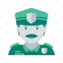 avatar, face, man, police, profile, user