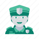 avatar, face, police, profile, user, woman icon