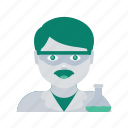 avatar, face, man, profile, scientist, user