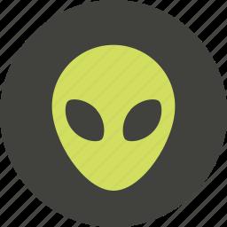 alien, avatar, face, profile, user picture icon