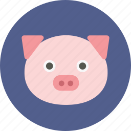account, animal face, avatar, cute, face, pig, user profile icon