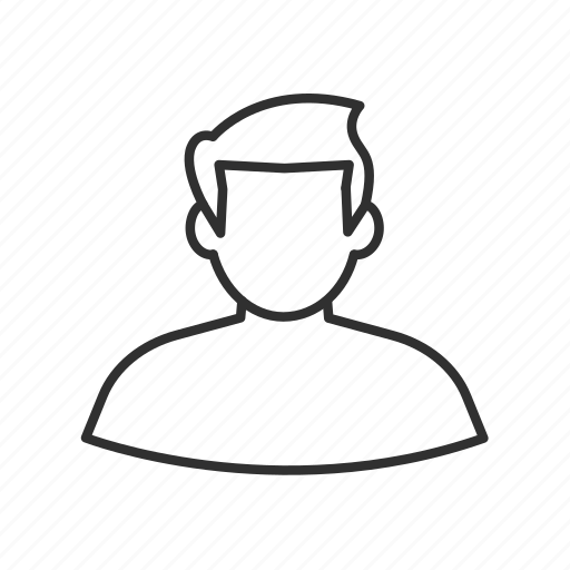 avatar, boy, guy, male, man, man outline, no face icon
