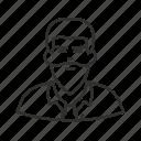 avatar, guy, hipster, lumberjack, man, man with beard icon