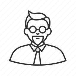 avatar, colonel sanders, glasses, hipster, kfc, man, tie icon