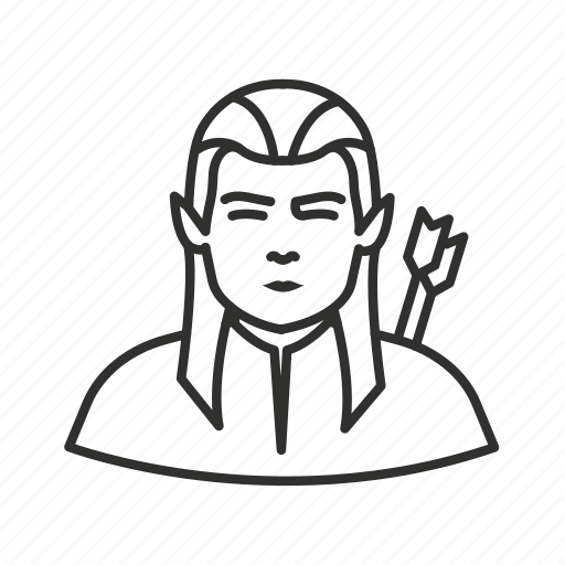 arrows, avatar, boy, elf, legolas, lord of the rings, orlando bloom icon