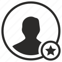 avatar, fav, favorite, login, man, person, user icon