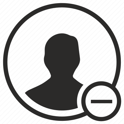 cut, erase, man, minus, person, user icon